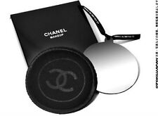 CHANEL Chanel Ribbon Stainless Steel Mirror Hand Mirror (With Fleece Cover) Gift