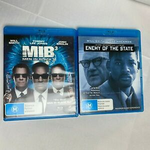 Men in Black MIB 3 & Enemy of the State - Will Smith - BLU RAY
