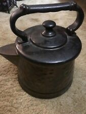 Vintage McCoy Art Pottery Hammered Bronze Teapot Kettle Cookie Jar Very Gd Cond.