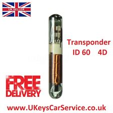 Transponder Chip ID60 4D T7 Glass LDV Ford Focus Mondeo Transit Connect Jaguar