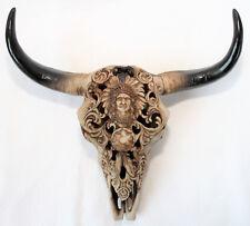 Skull Bull Quality Indian Design 30 x 30 x 9 cm