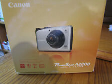 Canon A2200 14.1 MP Digital Camera Blue With Battery Charger SD Card Manual Box