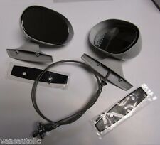 Mopar 71 72 73 74 E-Body 71 72  B-Body Paintable Primer Pair of Mirrors NEW