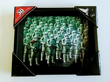 STAR WARS: THE FORCE AWAKENS - Lenticular 3D STORM TROOPER Framed Picture (New w