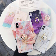Fashion iPhone XS MAX Case Cover Gold Foil Tap Holder Soft Cover Anti-fall