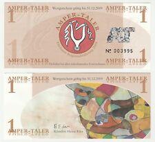 Germany - Dachau 1 Amper-Taler 2009 UNC Local Currency Polymer Banknote