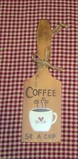 Old Fashion Butter Paddle~COFFEE 5c A CUP~Country Kitchen Decor