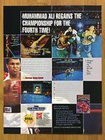 Muhammad Ali Heavyweight Boxing Sega Genesis 1992 Print Ad/Poster Official Art