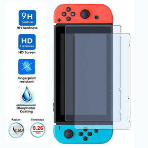 3 Pack For Nintendo Switch 100% Genuine TEMPERED GLASS Screen Protector Cover