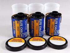 Kodak Elite Chrome 3 Rolls 400 Color Slide Film 35mm ISO 400 24