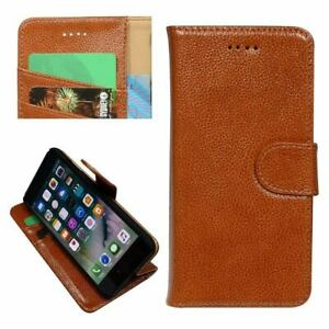 For iPhone SE (2020),8,7 Wallet Case,Cowhide Genuine Leather Folio Cover