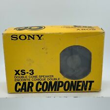 Vintage Sony XS-3 3 1/2 Double Cone In-Dash Replacement Car Speakers New in Box