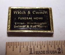 Vintage WELCH & CORNETT  Wood Matches Pocket Box LINTON WORTHINGTON INDIANA