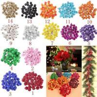200pcs Artificial Frosted Berry Fruit Flower DIY Christmas Decoration 8 Colors
