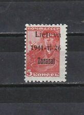 Dachbodenfund; alte Briefmarke Deutsches Reich Besetzung Litauen + Aufdruck 3892