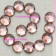 Light Pink Iron On Hot fix Rhinestones Crystals Hotfix Crafts 2mm 3mm 4mm 5mm