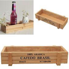 Multifunctional Postcard Cosmetics Desk Organizer Wooden Box Storage Box Holder