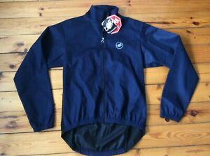 Castelli Windstopper Full Zip Jacket Cycling Navy Men's Sz- L