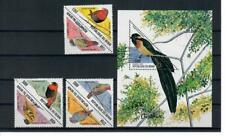 SBI3 Birds Benin 1999 Set of 6v and one MS, MNH