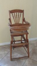 ANTIQUE CHICHESTER CONVERTIBLE HIGH CHAIR AND STROLLER