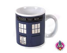 NEW  OFFICIAL DR WHO TARDIS POLICE BOX COFFEE MUG CUP RETRO NEW IN GIFT BOX