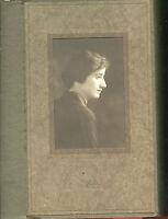 Antique Studio Photo - In Folder, Young Lady, Side Profile, Norfolk, Nebraska