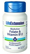 BioActive Folate & Vitamin B12 - Life Extension - 90 Veggie Capsules