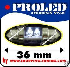 2x ampoule 4 led 36mm, éclaire plaque Blanche C5W