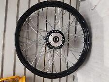 Black Front Spoke Wheel Harley Sportster Dyna 2000^ 3/4 2.15x21 Dual Disc 883 12