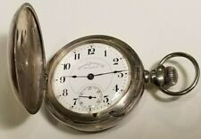 18S Sterling Silver Pocket Watch A Running Antique E Jaccard St Louis Hamilton
