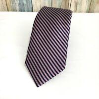 "Express Men's Slim Skinny Narrow 100% Silk Striped Neck Tie 2.5"" NWT"