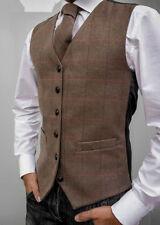Woolen Regular Striped Casual Waistcoats for Men