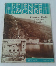JDN SCIENCE ET MONDE n°49- 21/4/1932 aviation marine de guerre électrification