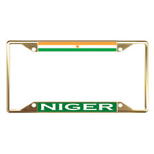 NIGER FLAG COUNTRY Metal License Plate Frame Tag Holder Four Holes