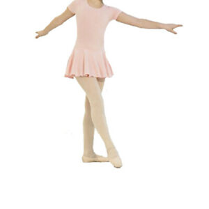 Dance Depot Girls / Childs Amy Skirted Leotard Short Sleeved In Various Colours