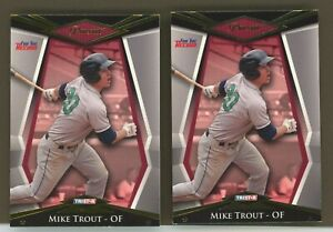 "Group of 2 - 2011 #1 MIKE TROUT TRISTAR PURSUIT GOLD ROOKIES ""HOT"""