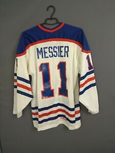 Mark Messier Edmonton Oilers Jersey LARGE Shirt Mens Trikot Hockey CCM ig93