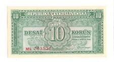 More details for 1950 unc czechoslovakia 10 korun banknote czech republic perforated s