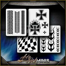 """Mini Speedway Set"" Airbrush Stencil Template Airsick"