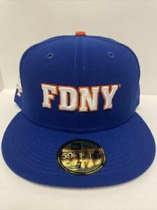 🔷BRAND NEW🔶 NEW ERA 59FIFTY NEW YORK METS FDNY PATCH HAT 7 5/8 HAT CLUB RARE