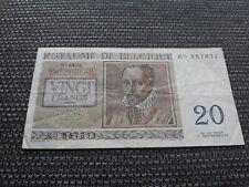 Billet de 20 Francs Belges --- Monnaie Belgique --- 1956