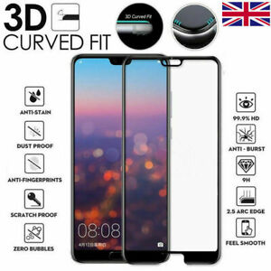For Huawei P20 P30 P40 Mate 20 Pro Full Curved Tempered Glass Screen Protector