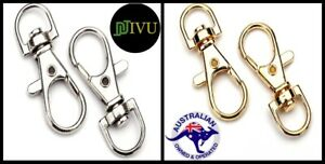 Lobster Claw Swivel Clasp Hook 37X16 Silver / Golden Tone Trigger for Key Rings