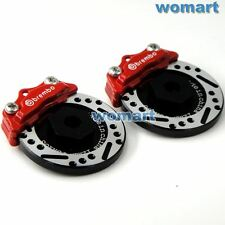 2pcs 1/10 RC Alloy Aluminum Brake Disc Caliper 12mm Hub Fit most of 1/10 RC Car