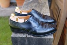Crockett & Jones / Hackett Size 7.5 / 8E Handgrade Black Brogues - 317 Last
