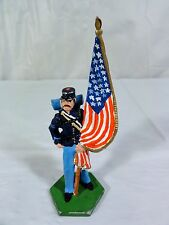 METAL UNION  CIVIL WAR INFANTRY SOLDIER WITH FLAG