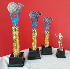Pokal Pokale 4er Serie E- Dart Darts Acryl Beste Dame Gravur 30 cm 2020 Top