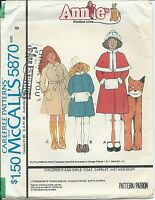 M 5870 sewing pattern 70's Annie COAT CAPELET HAT MUFF sew ADORABLE size 8 UNCUT