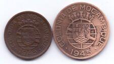 2 COINS COLONY OF PORTUGAL PORTUGESA MOZAMBIQUE 1945