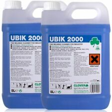 Ubik 2000 2x5Ltr Heavy Duty Universal Cleaner Concentrate Degreaser Clover Ubik